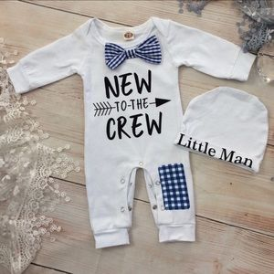Boutique Baby Boys NEW TO THE CREW Outfit